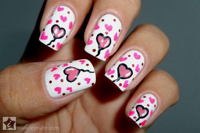 iEsmalte: Especial Dia dos Namorados: Unha Decorada - Corações