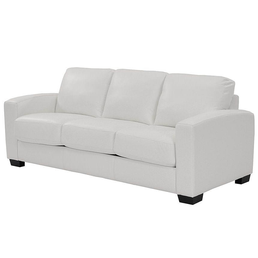Wall Street White Leather Sleeper Foam Sofa Bed Memory Foam Sofa Sofa