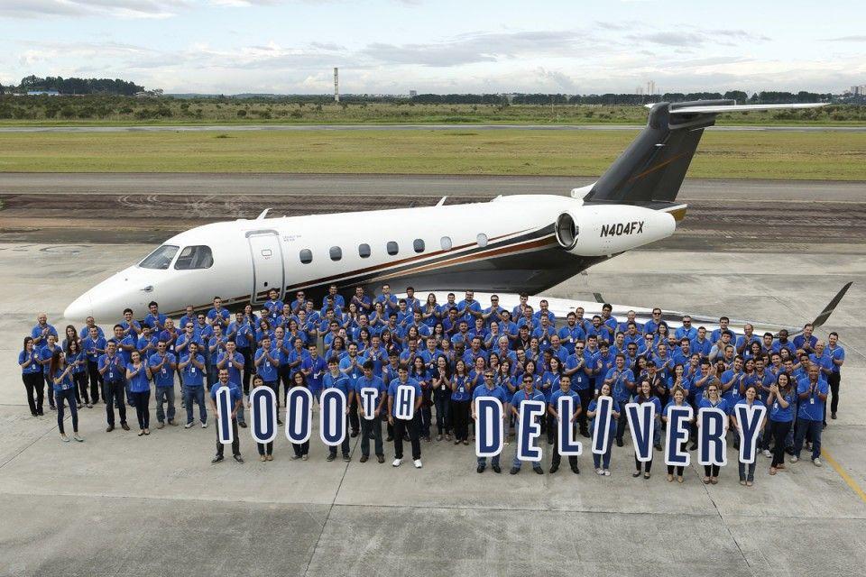 O milésimo jato executivo que a Embraer fabricou foi um Legacy 500 (Embraer)
