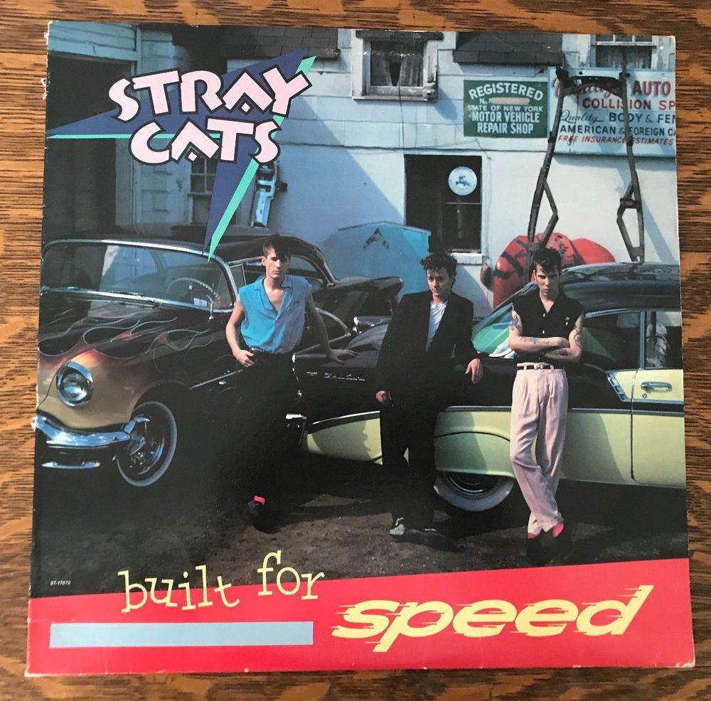 Stray Cats Built for Speed 1982 Rock This Town VG+/EX