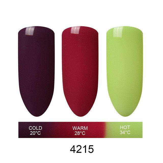 Beau Gel 3 in 1 Nail Gel Polish Mood Thermal Color Changing Polish Nail Gel Varnish Chameleon Temperature Color Change Gel
