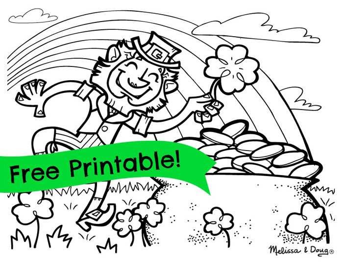 Printable St Patricks Day Coloring Pages For Kids March Pinterest