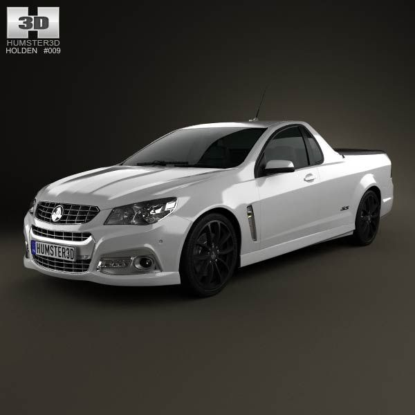 Holden VF Commodore Calais V UTE 2013 3d model from humster3d.com. Price: $75