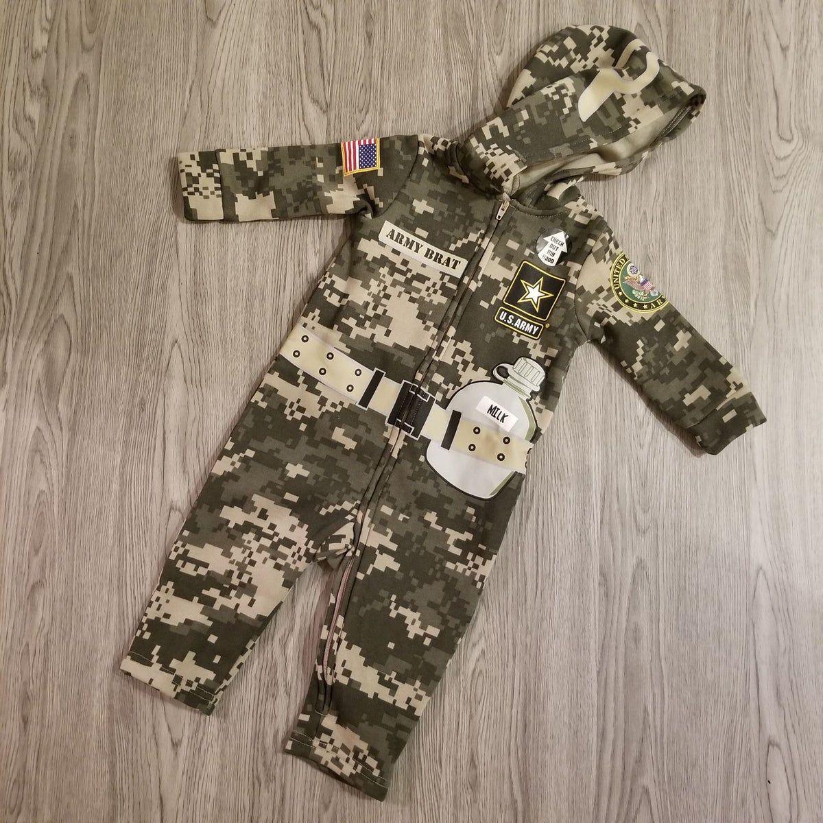 NEW Baby Army Military Pj One Piece Body