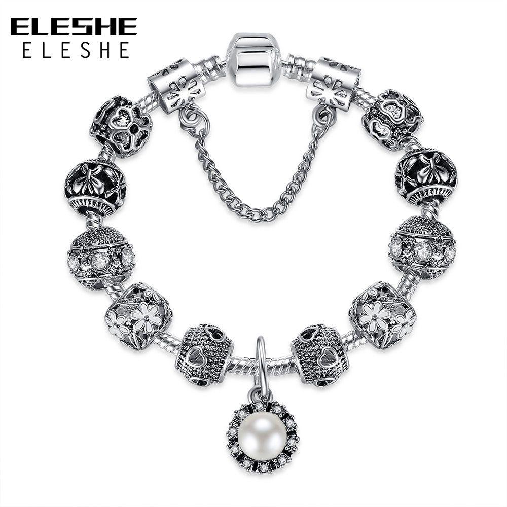 Christmasu day fashion silver flower charm bracelets bangles with