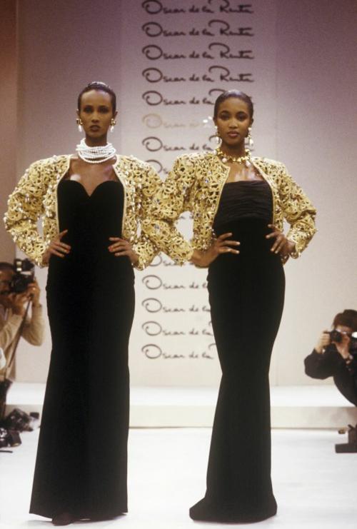 Iman  Naomi Campbell  oscar de la renta fall 1988