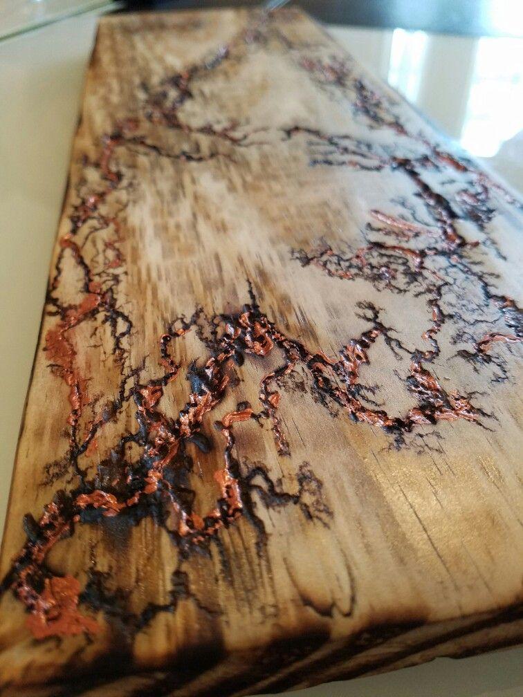Fractal Wood Burning Patterned Furniture Woodworking