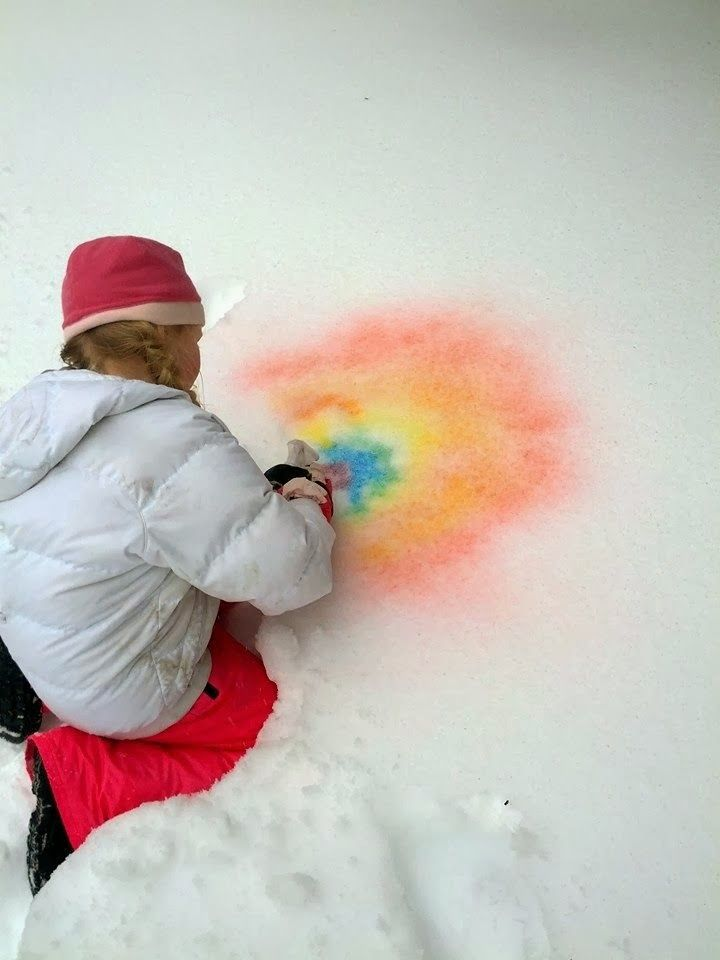 Snow-Airbrushing - Paint the Snow with food-coloring-tinted water ...