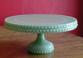 Vintage Milk Glass Cake or Cup Cake Stand  Fruit Bowl  bowl