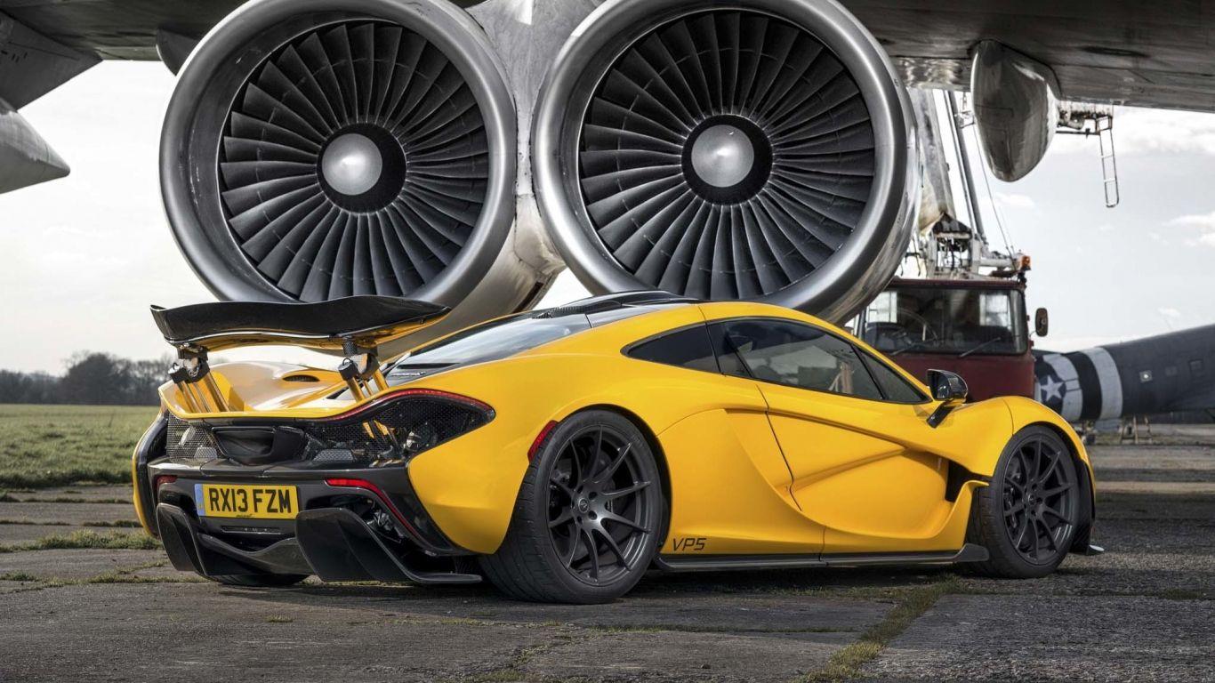 Download Wallpaper 1366x768 Mclaren P1 Turbines Yellow Supercar Laptop 1366x768 Hd Background Mclaren P1 Super Cars Sports Car