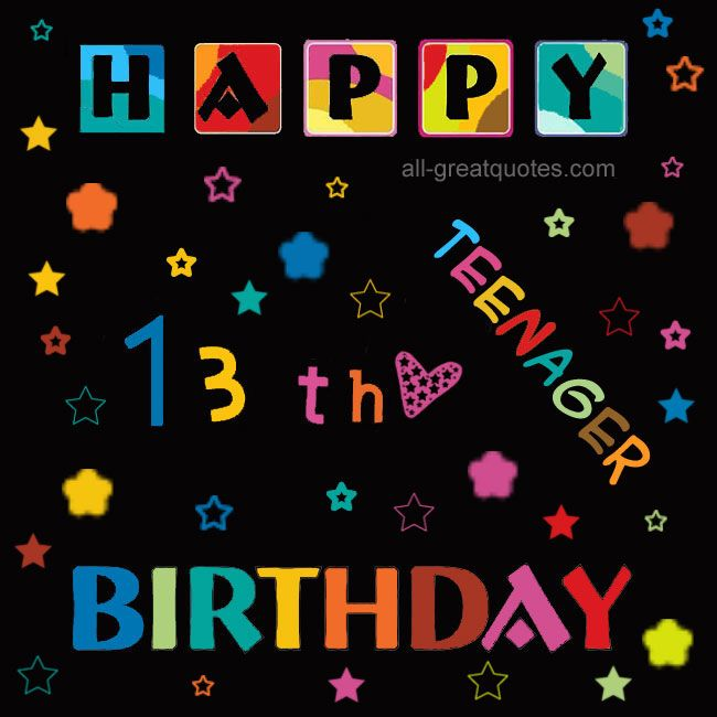 13 black happy birthday free birthday cards 13th birthday black 13 black happy birthday free birthday cards 13th bookmarktalkfo Images