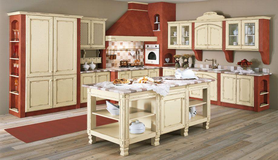 cucine in legno bianco anticato