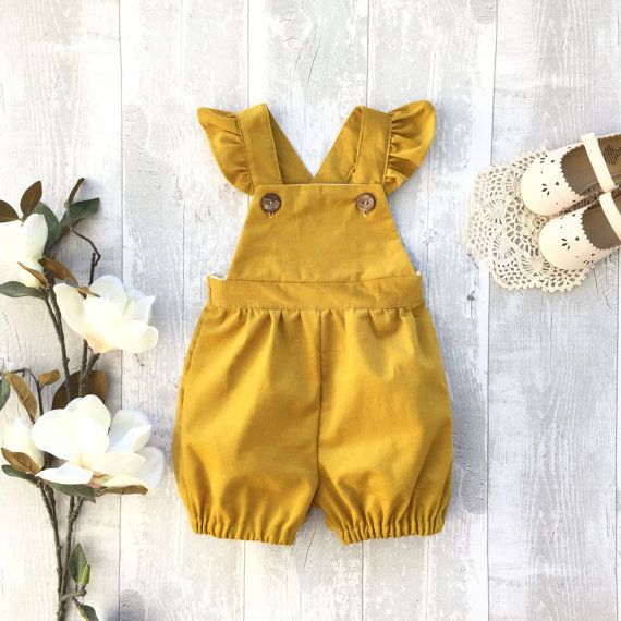0c4c9f31488 Corduroy bubble romper for baby toddler girls by MyCandyCloud