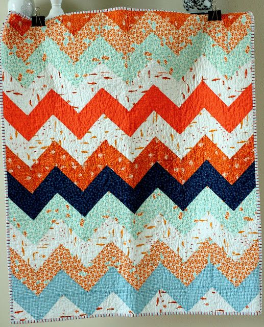 This is my goal:  a quilt is nice: zig zag quilt kit tutorial