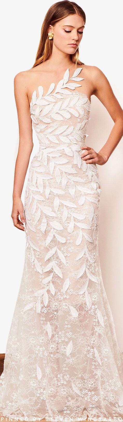 9f47a215c1da64 Oscar de la Renta Bridal Fall 2018 Fashion Show | Платья | Wedding ...