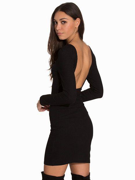 2d56191618c5 Square Back Dress - Nly Trend - Svart - Festklänningar - Kläder - Kvinna -  Nelly.com