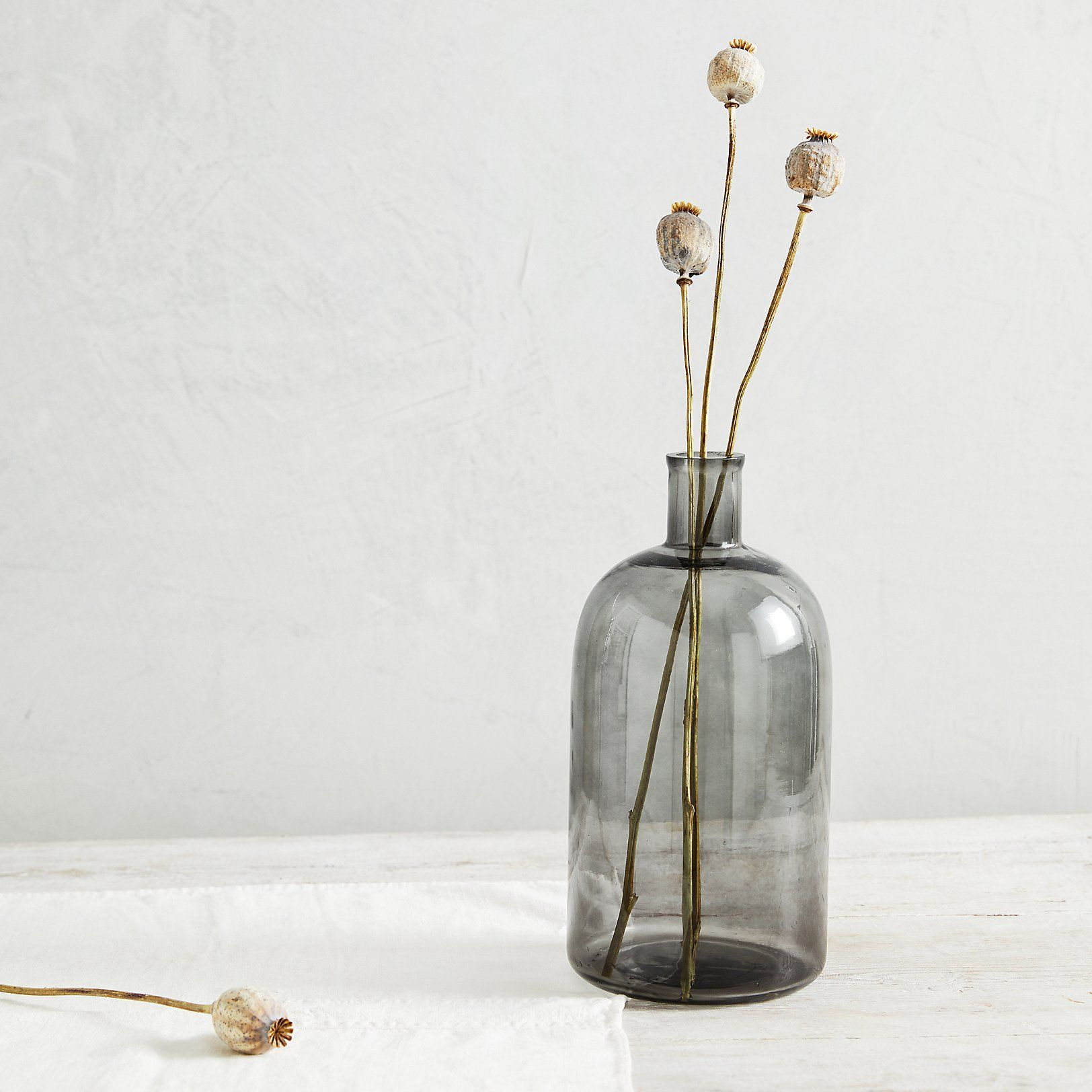 Smoked Glass Large Vase | Home Decor | The White Company US ...