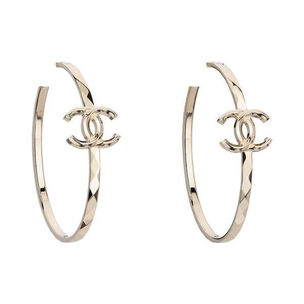 Hoop earrings ❤ liked on Polyvore featuring jewelry, earrings, accessories,  chanel, earrings costume jewellery, chanel jewellery, chanel jewelry and