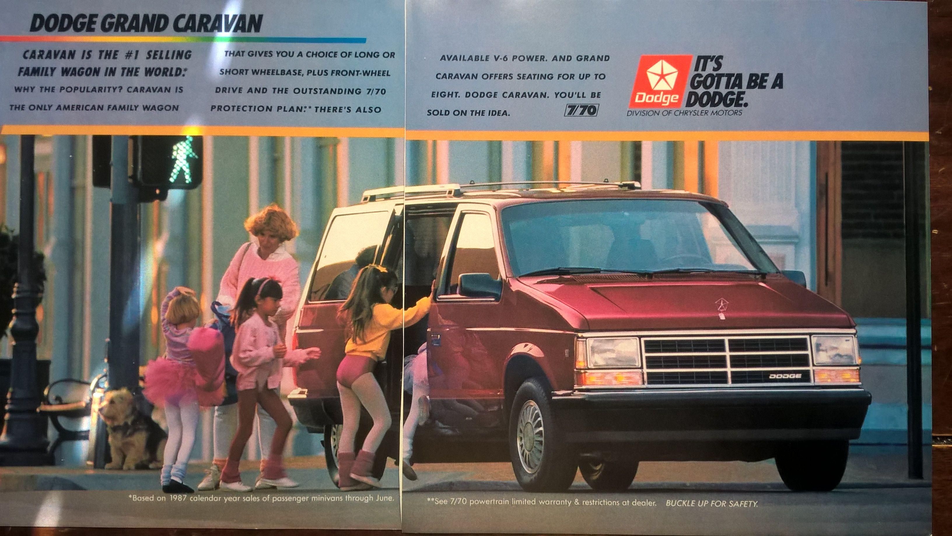 1988 Dodge Grand Carvan Ad National Geographic September 1988