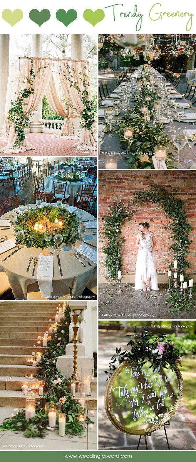 Outdoor wedding decoration ideas cheap  Budget Friendly Wedding Trend  Greenery Wedding Decor Ideas