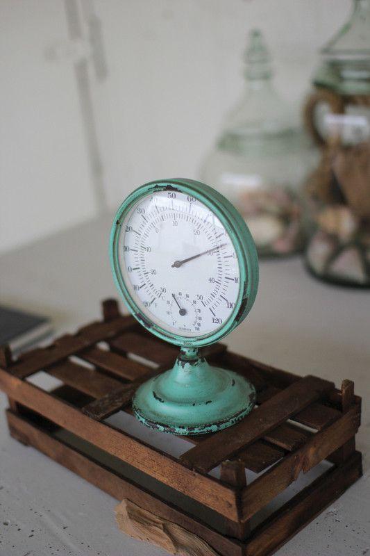 round garden thermometer