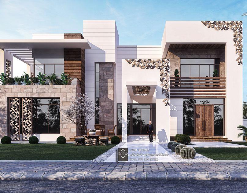 A Modern Simple Elegant And Impressive Villa On Behance In 2020 Luxury Villa Design Modern Villa Design Modern Exterior House Designs