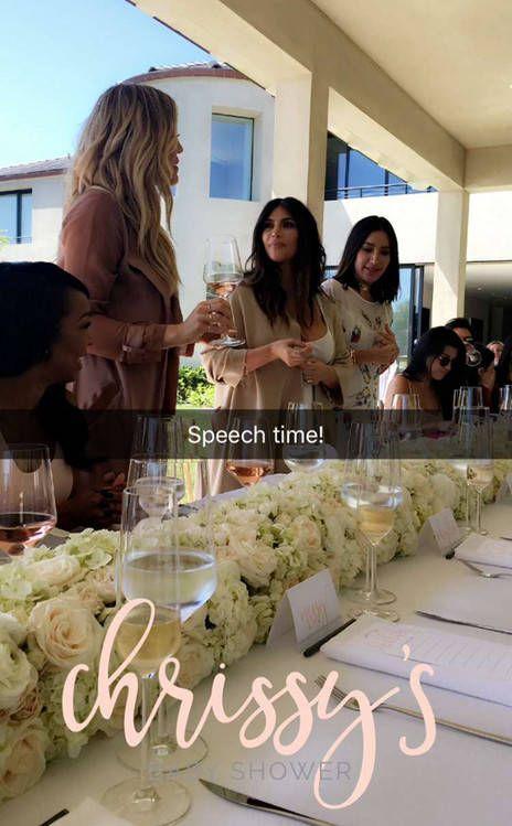 khloe kardashian kim kardashian chrissy teigen baby shower 2