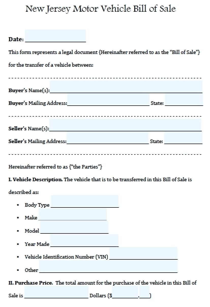 Vehicle Bill Of Sale Template Word Vmarques regarding
