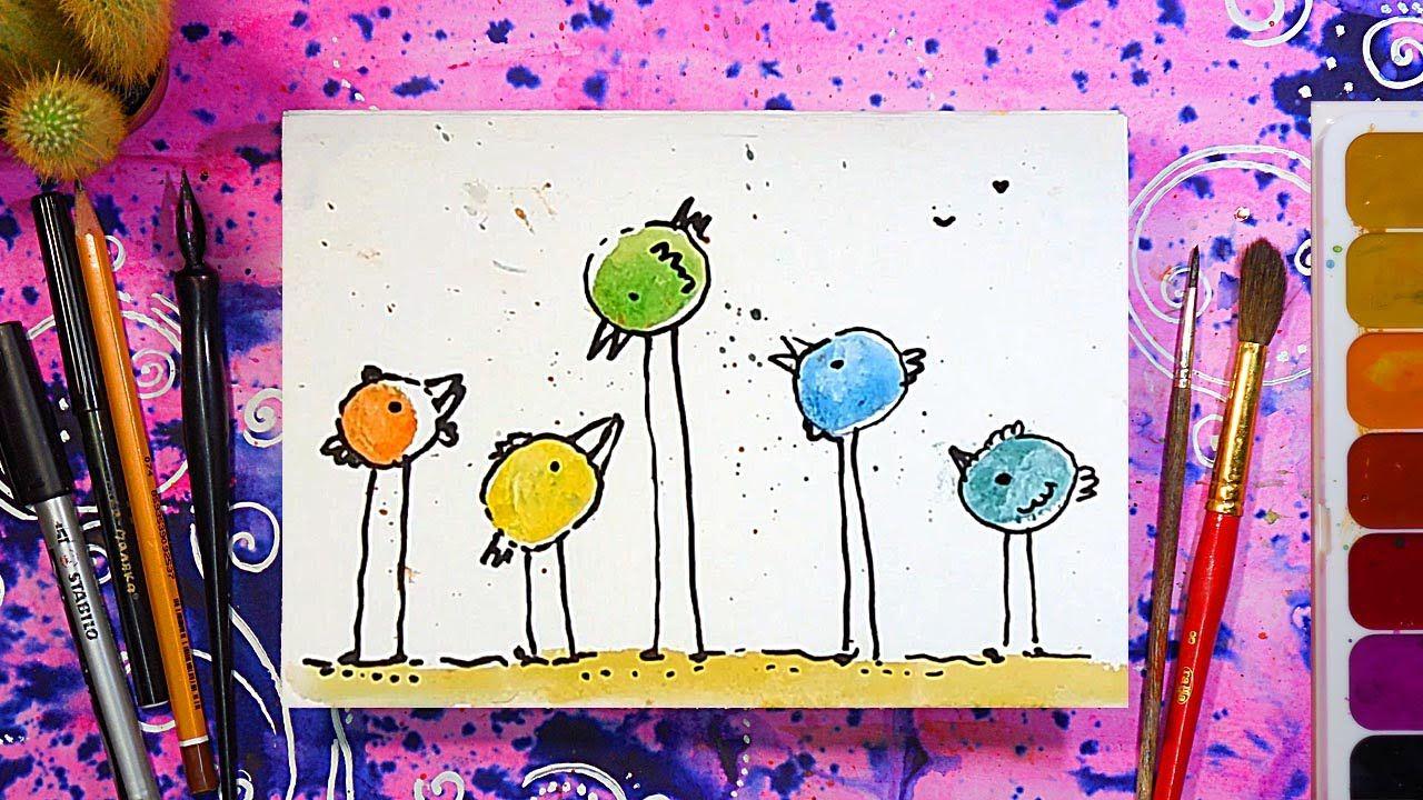 Чего можно нарисовать на открытке