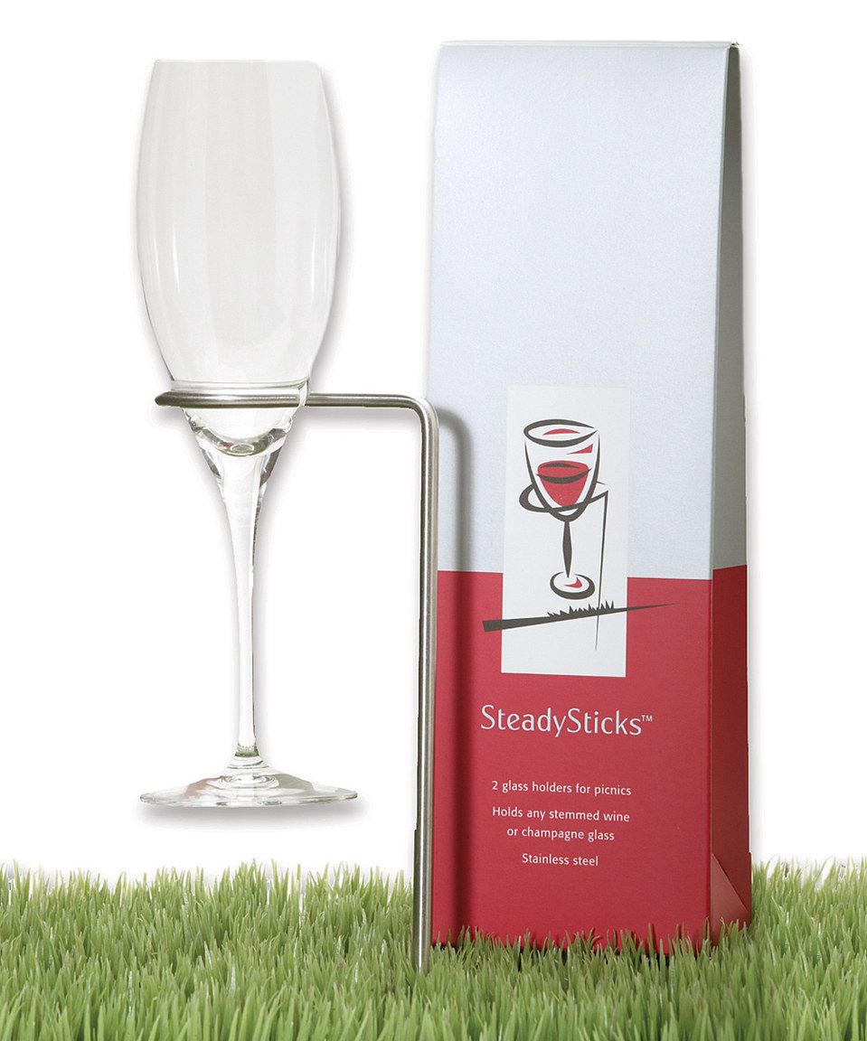 This Steadysticks Wineglass Holder Set Of Two By Tovolo Is Perfect Zulilyfinds Wine Glass Holder Wine Glass Glass Holders