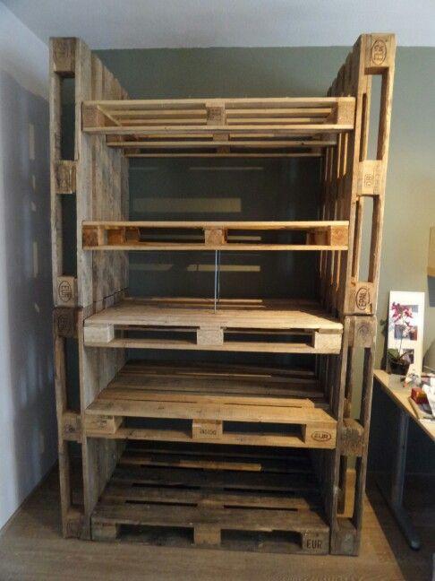 Ongekend Pallet kast DIY (met afbeeldingen)   Palet meubelen, Kast, Meubels OL-45