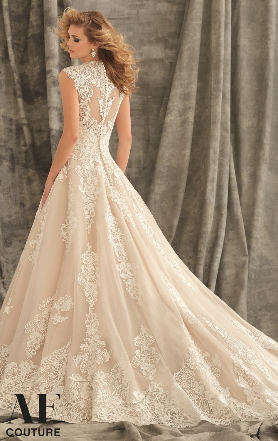 Mori lee aline tulle ball gown with sleeves weddings