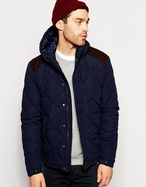 ASOS+Quilted+Jacket+With+Contrast+Shoulder+Patch | Clothing for ... : mens quilted jacket with shoulder patch - Adamdwight.com