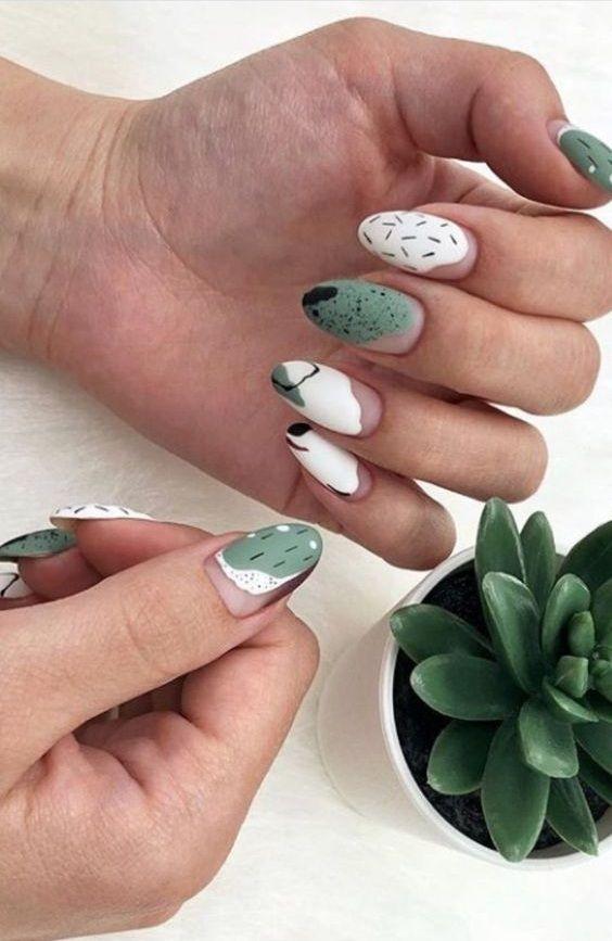 45 Bright Summer Nail Art Design Trends On 2019 Green Nail Art Green Nails Nails