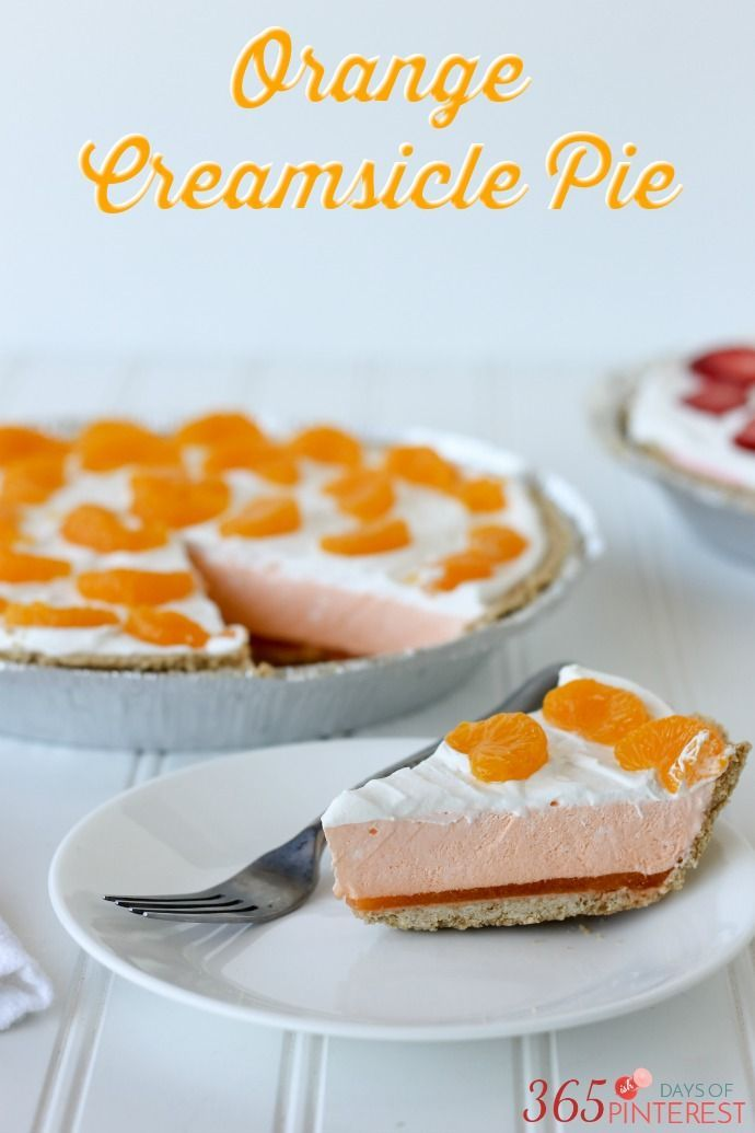 Orange Creamsicle Pie tastes just like the frozen treat we grew up loving, but in delicious pie form!