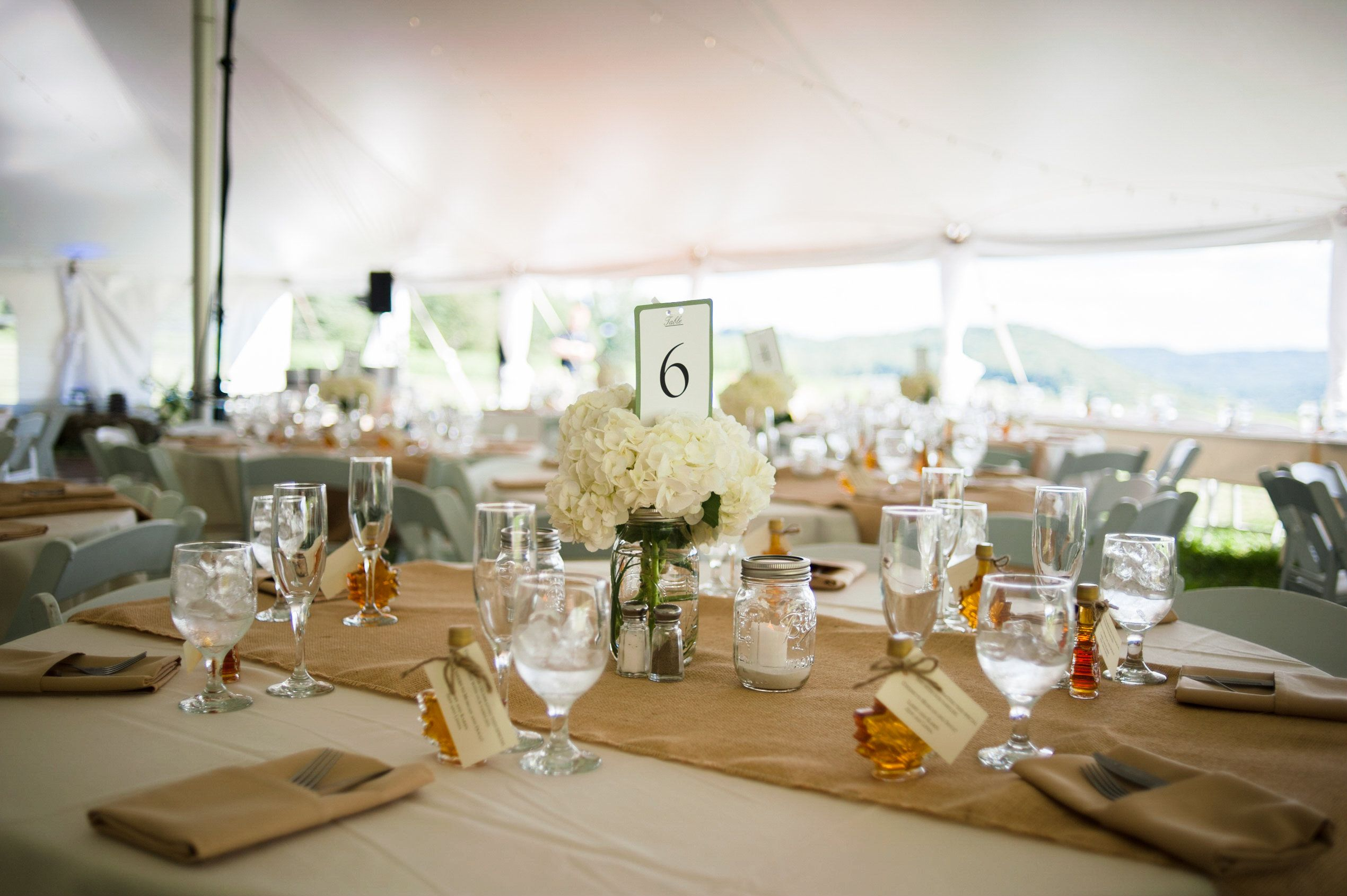 Tented backyard wedding coordinated by Events by Jackie M ...