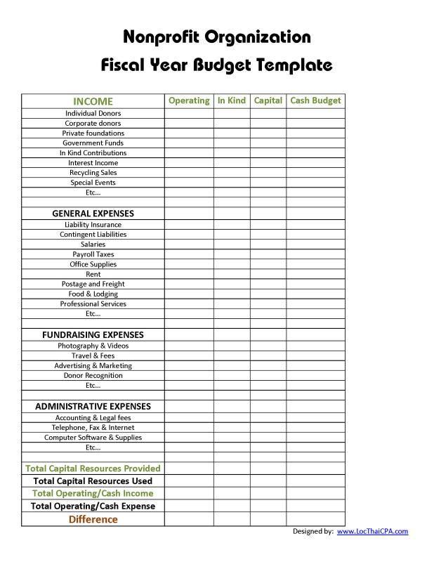 Non profit budget template template pinterest templates non profit budget template maxwellsz