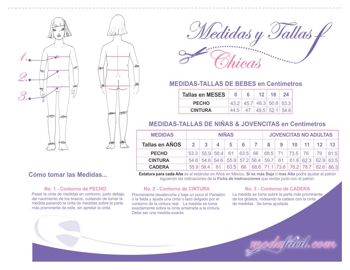 Cómo Tomar las Medidas y Sacar las Tallas para Patrones de Costura ...