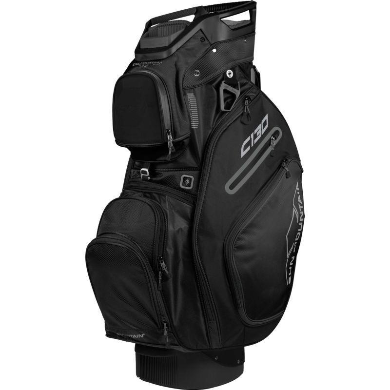Sun Mountain 2018 C130 Cart Bag Black Golf Shoe Bag Golf Fashion Golf Bags