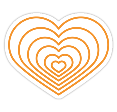 This Multi Orange Heart Design Is Super Cute And Will Get You In The Mood For Spring And Summer Share The Love With Family Fr Multi Heart Shapes Heart Design