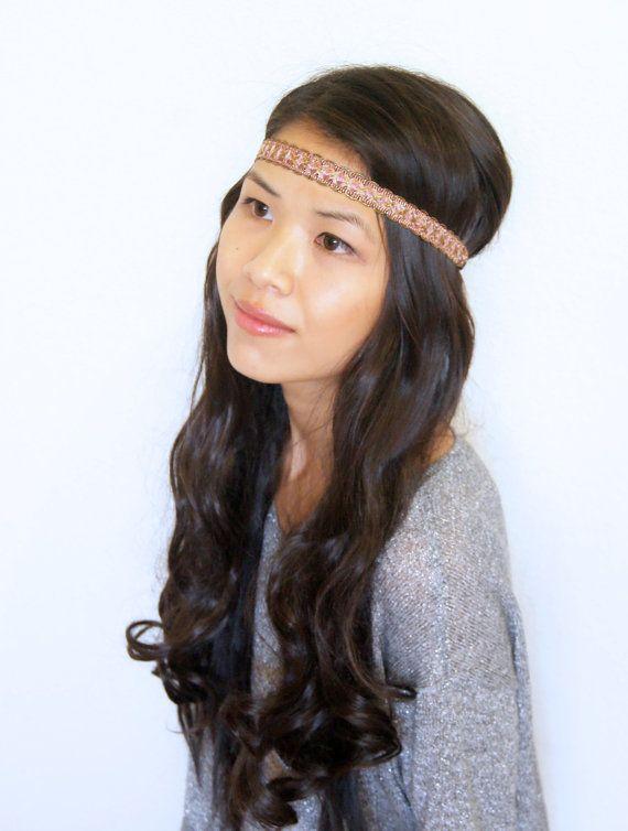 Tribal headband Blue Boho Headband Aztec Hair by EmpireDreams  3fd14ed1501