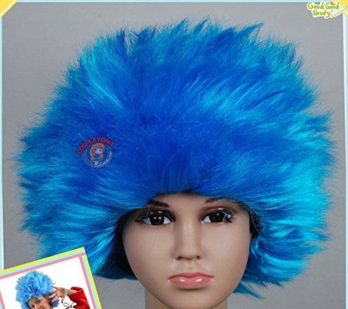 Kids' Costume Wigs - Toddler Size Thing 1 Thing 2 Dr Seuss Suess ...