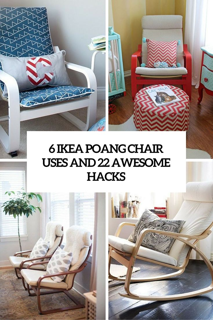 6 Uses For Ikea Poang Chair And 22 Awesome Hacks Cover Diy  # Muebles Cover Decoracion
