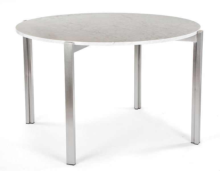 Superior Case Study Stainless Floating Marble Dining Table Atrium Table. LA Design