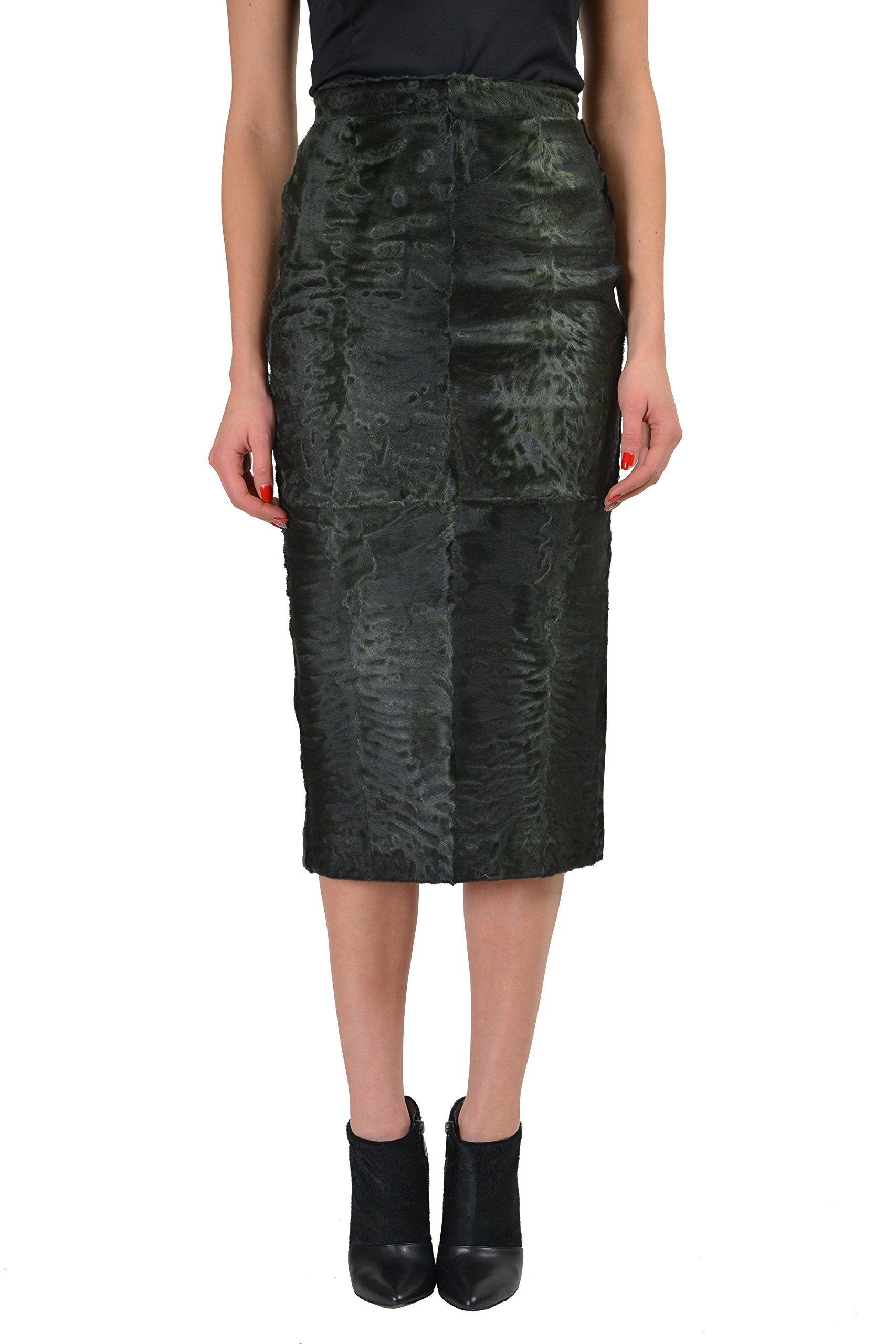 Dsquared karacul gray womenus pencil skirt us s it