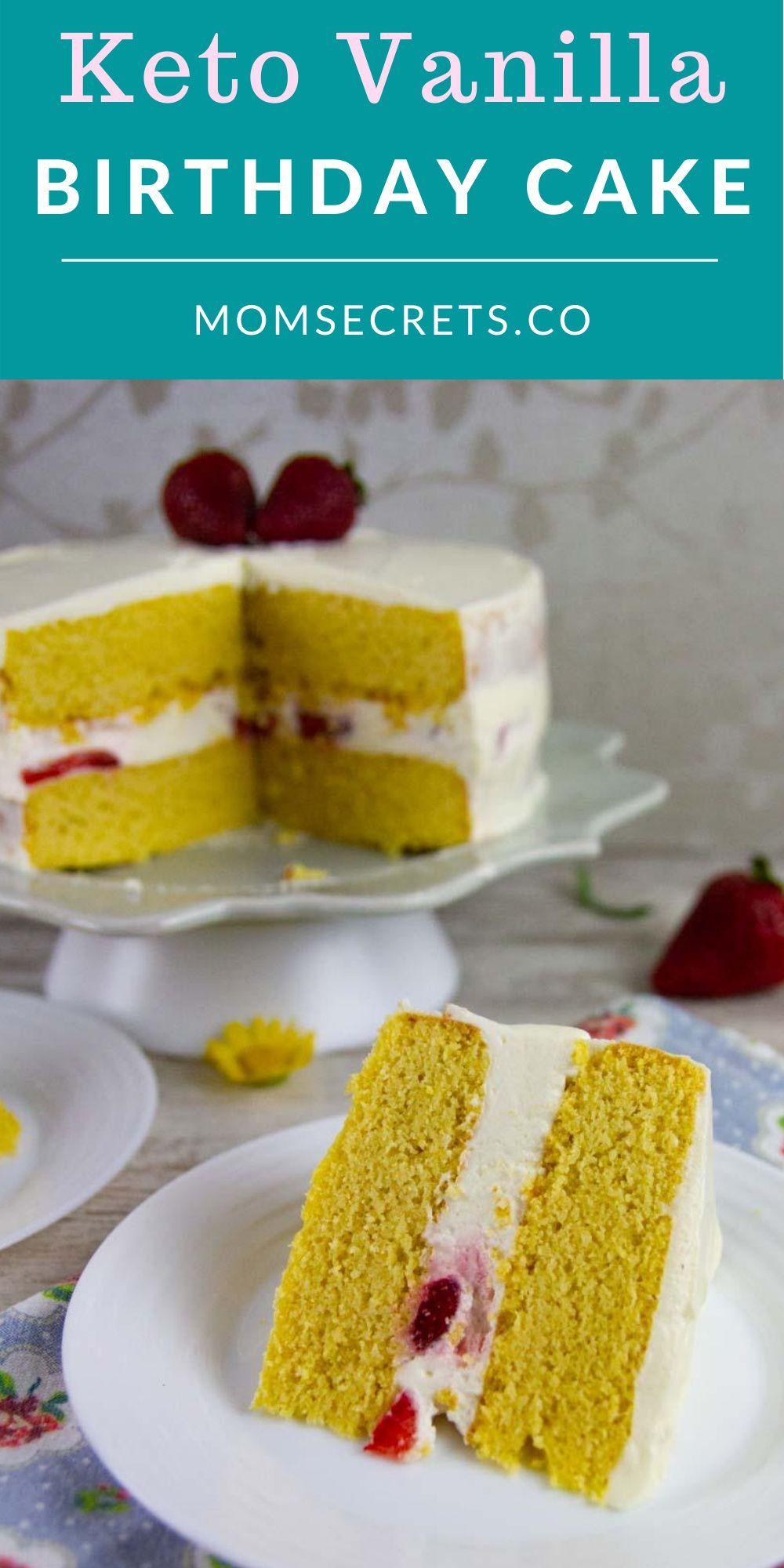 Keto Vanilla Birthday Cake GlutenFree Low Carb in 2020
