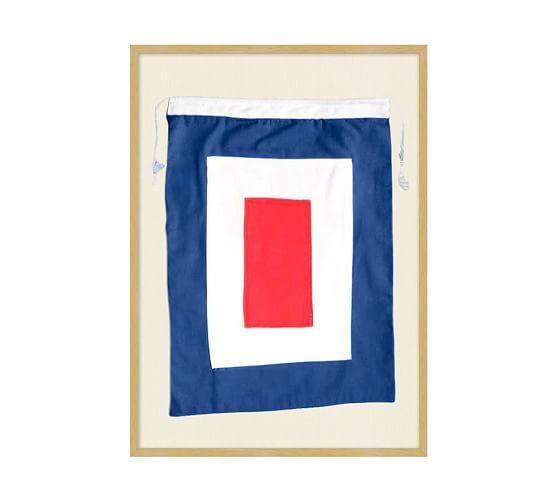 Framed Nautical Flag S, 18.25 x 25.25\