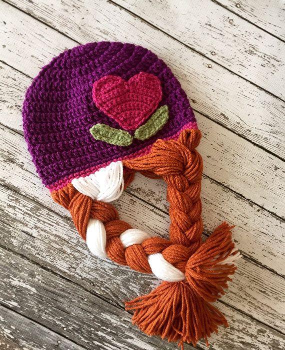 Anna und Elsa inspiriert Hut / Crochet Anna von mamamegsyarnshoppe ...