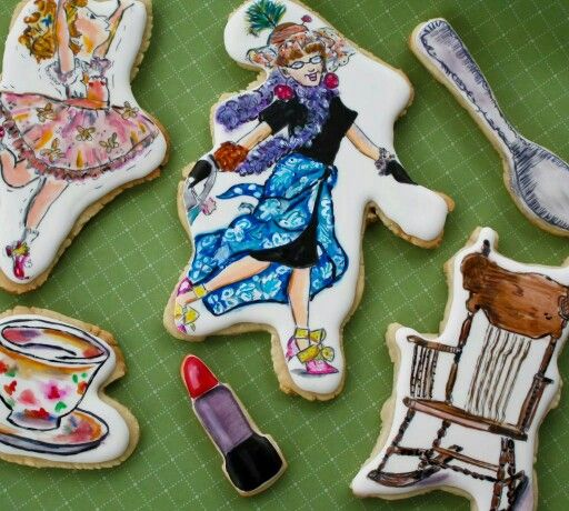 Sugar Rush Custom Cookies:  Fancy Nancy based upon children's picture book written by Jane O'Conner