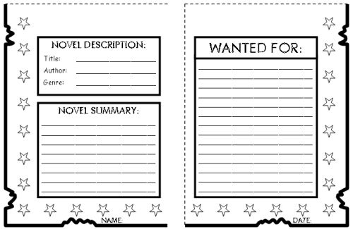 book report ! School Graphic Organizers Pinterest Graphic - police report format template